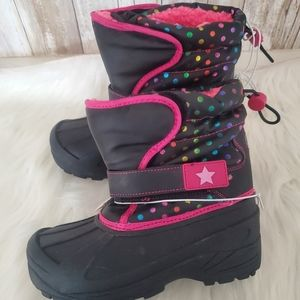 Athletic Polkadot Snow Winter Boots